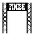 Gates racing finish icon simple style vector image