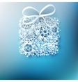 Gift box made from paper snowflakes EPS 10 vector image