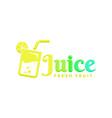 juice logo vector image