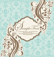 INVITATION CARD ON ABSTRACT FLORAL BACKGROUND vector image