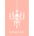 pink spotted background with chandelier vector image