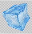 transparent light blue ice cube vector image vector image