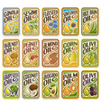 set labels for cooking oil vector image