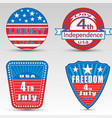 different independence day logos vector image