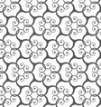 Monochrome spirals forming grid vector image