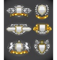 heraldic emblems vector image vector image