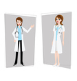 doctor nurse female vector image vector image