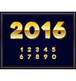 2016 Sign in Gold in vector image