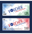 Gift Voucher Gift Certificate Blue red sport vector image