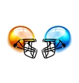 Football Helmets on white vector image