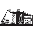 AH 391Scaffolding and lifting machinery vector image