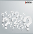 Background with many randomly question marks vector image