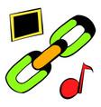 chain link icon icon cartoon vector image