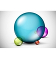 Colorful 3D glass balls vector image