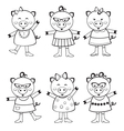 Cute pigs to color vector image