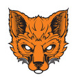 fox mascot for a sport team vector image