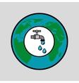 globe world water eco environment concept design vector image