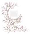 Hand drawn cherry blossom tree vector image