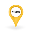 Location Athens vector image