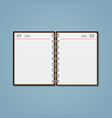 open flat diary vector image