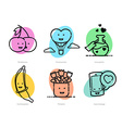 outlined icons set for Valentines Day vector image