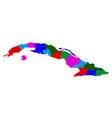 political map of cuba vector image