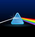 rainbow light separation vector image