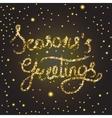 Season s greetings lettering vector image