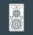 solid color concert loudspeaker vector image