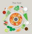 Tom Yum Kung And Ingredients vector image