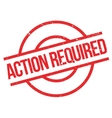 Action Required rubber stamp vector image