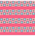 Seamless pattern in retro colors vector image