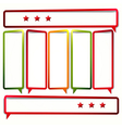 Long sticker in the form of an empty frame for vector image vector image