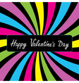 Colorful party card Happy Valentines day vector image vector image