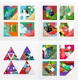 Flat design geometric info banners web boxes vector image vector image