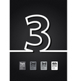 black number vector image vector image