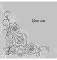 Simple floral pattern in black and white vector image vector image