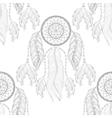 Hand drawn zentangle Dream catcher seamless vector image