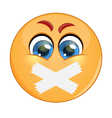Emoticon with adhesive bandages over his lips vector image