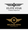 Royal Military Wings Logo vector image