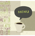 coffeehouse menu template vector image