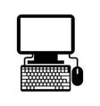 Black icon pc cartoon vector image