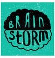 Brain Storm text vector image