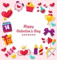Celebration Card for Valentines Day vector image