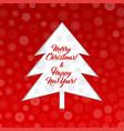 christmas tree banner vector image