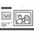 family portrait line icon vector image