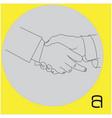 handshake businessman with showing middle finger vector image
