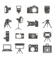Photo equipment sillhouettes vector image