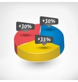 Pie Chart with percentage vector image
