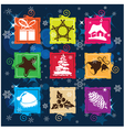 Set Christmas icon background vector image